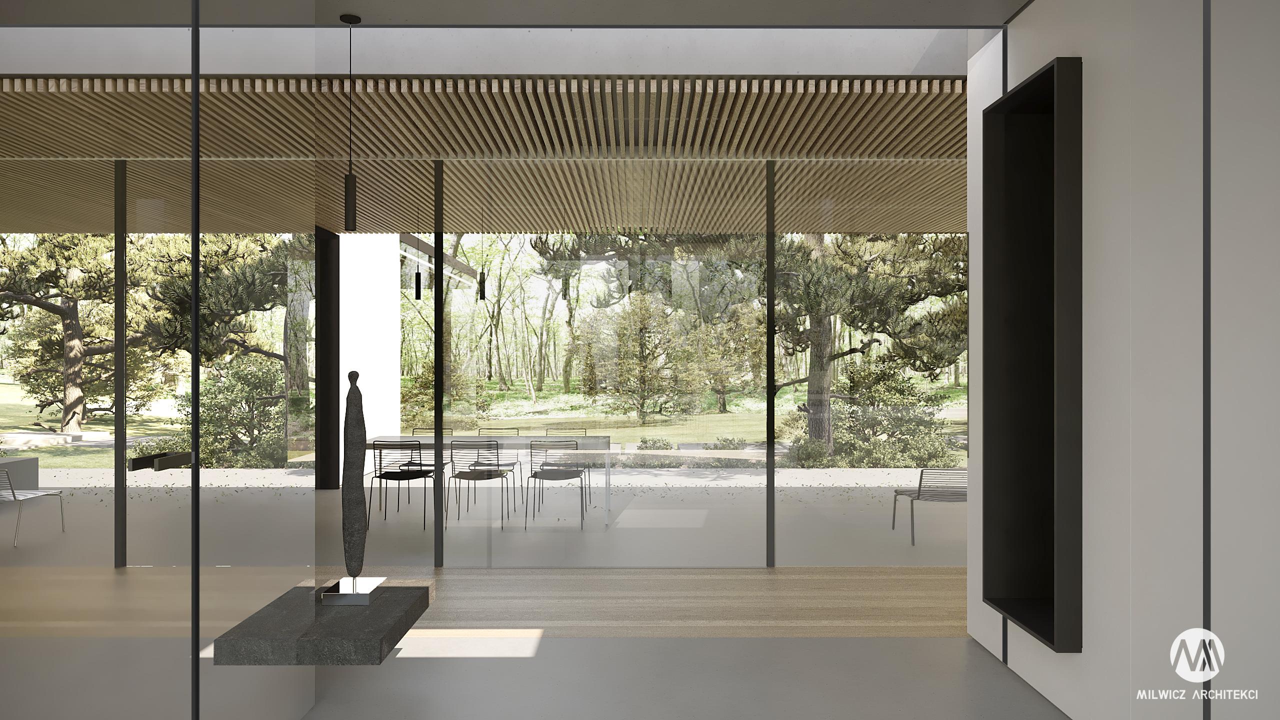 projekt Mielno, projekt indywidualny, nowoczesna architektura, duże przeszklenie, duże okna