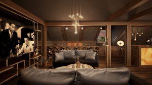 projekt Nowoczesny Cigar Room