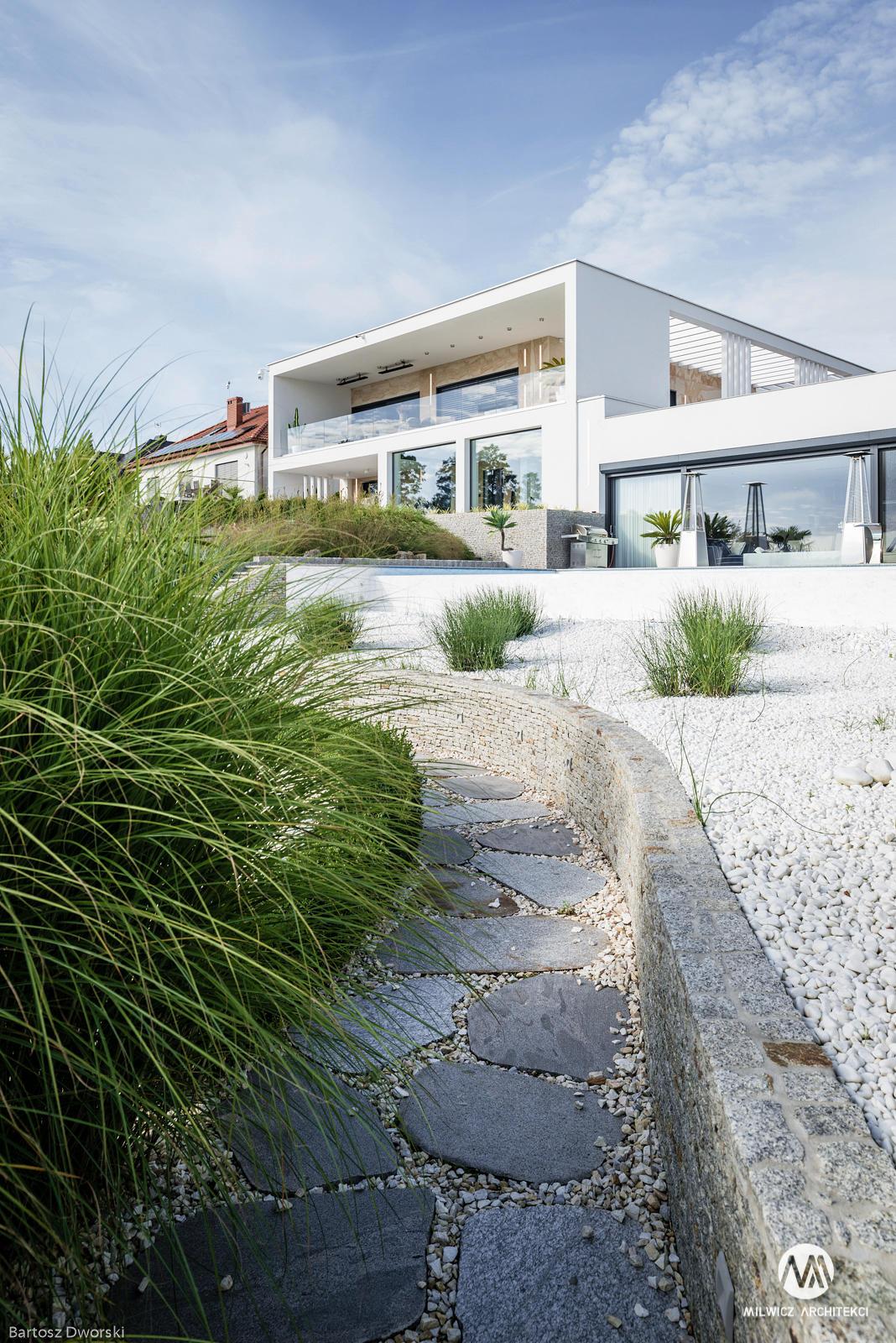 projekty indywidualne, nowoczesna architektura, modernizm, płaskie dachy