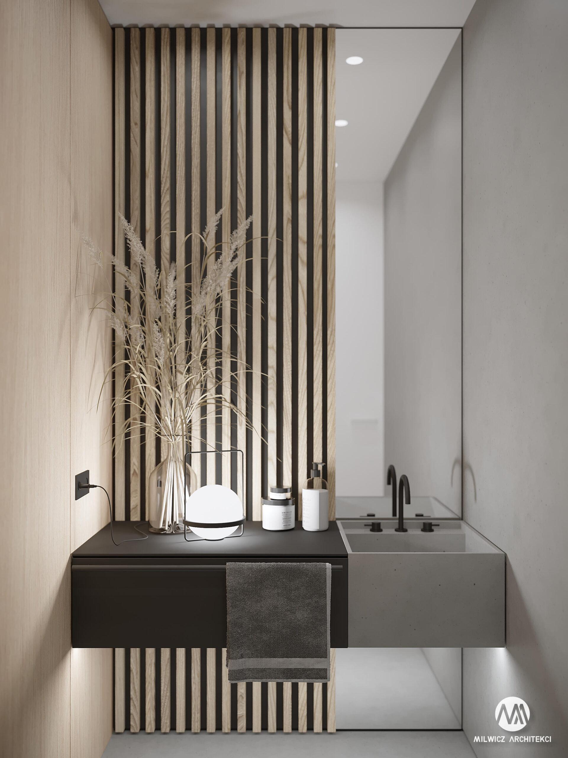 projekty indywidualne, projekty wnętrz, minimalizm, WC