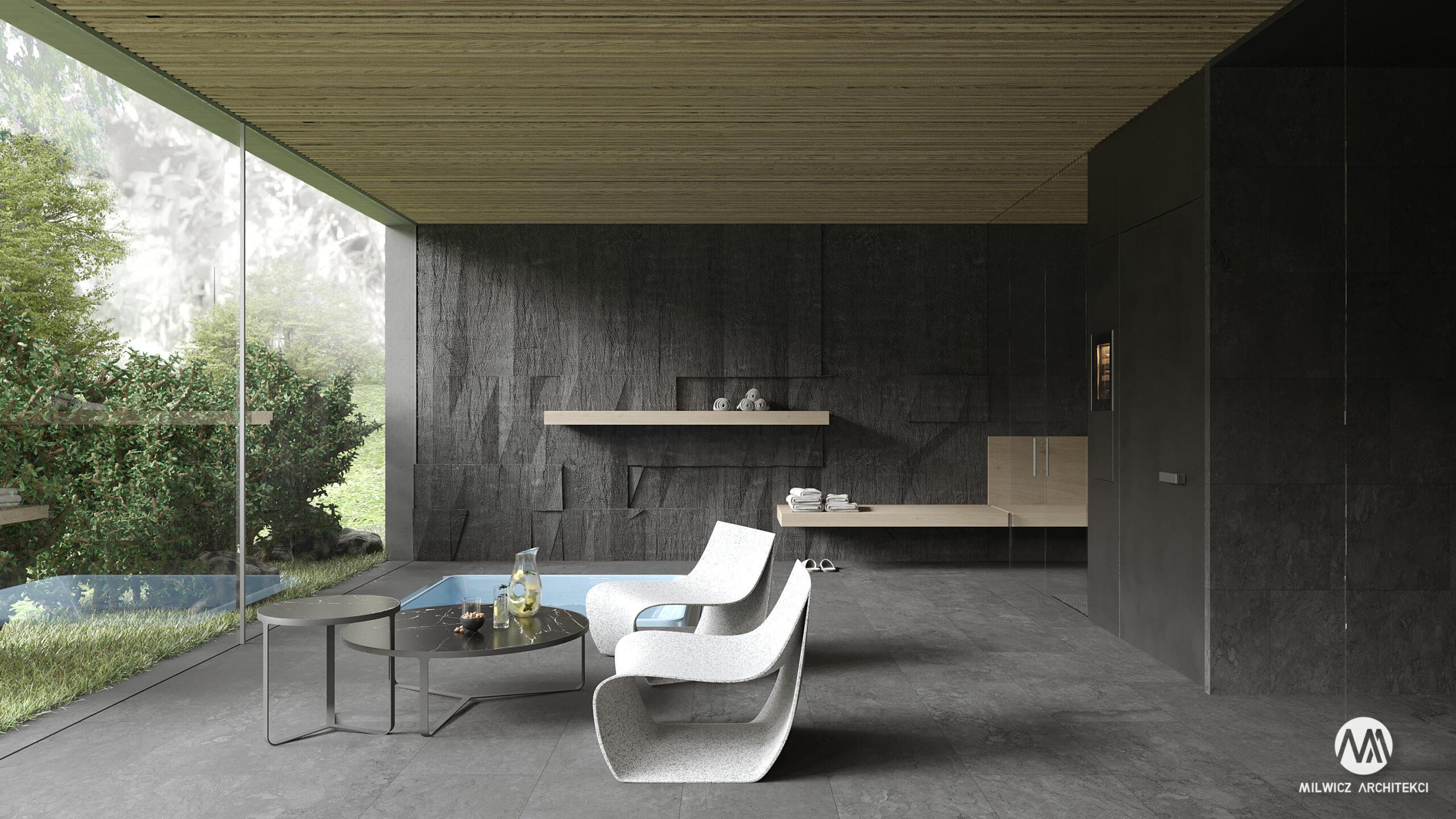 projekty indywidualne, projekty wnętrz, minimalizm, SPA