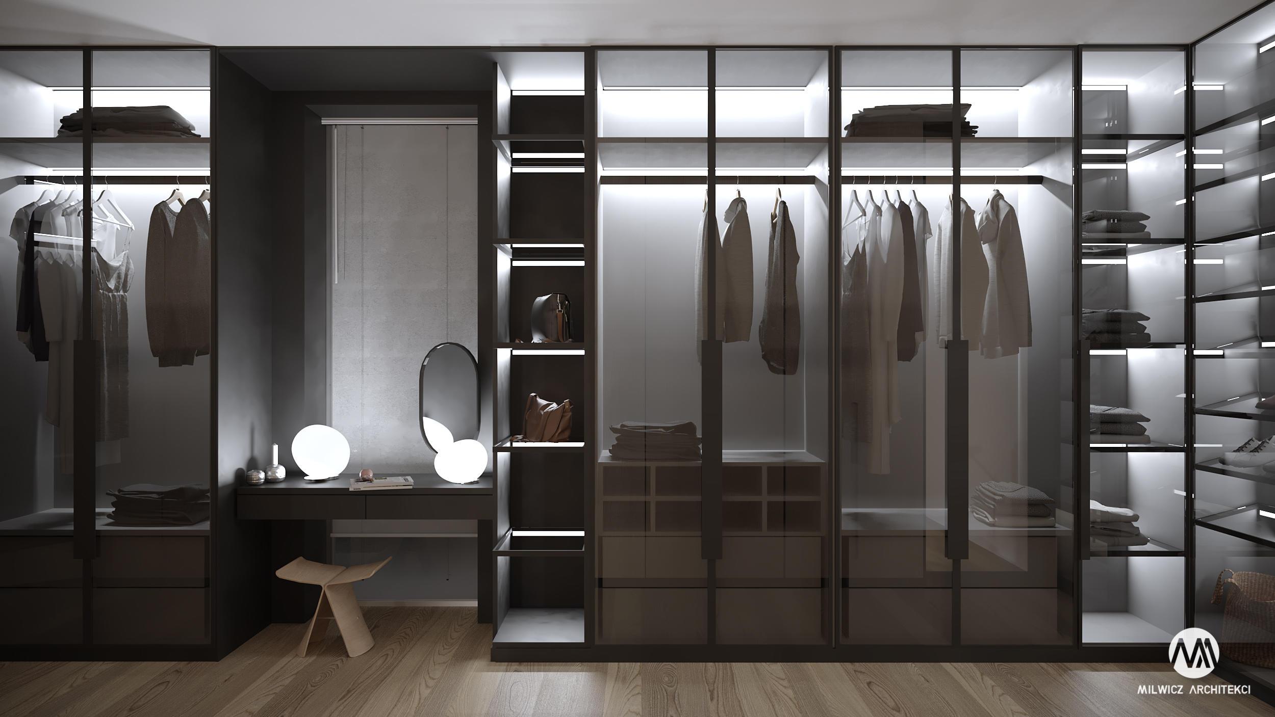 projekty indywidualne, projekty wnętrz, minimalizm, garderoba