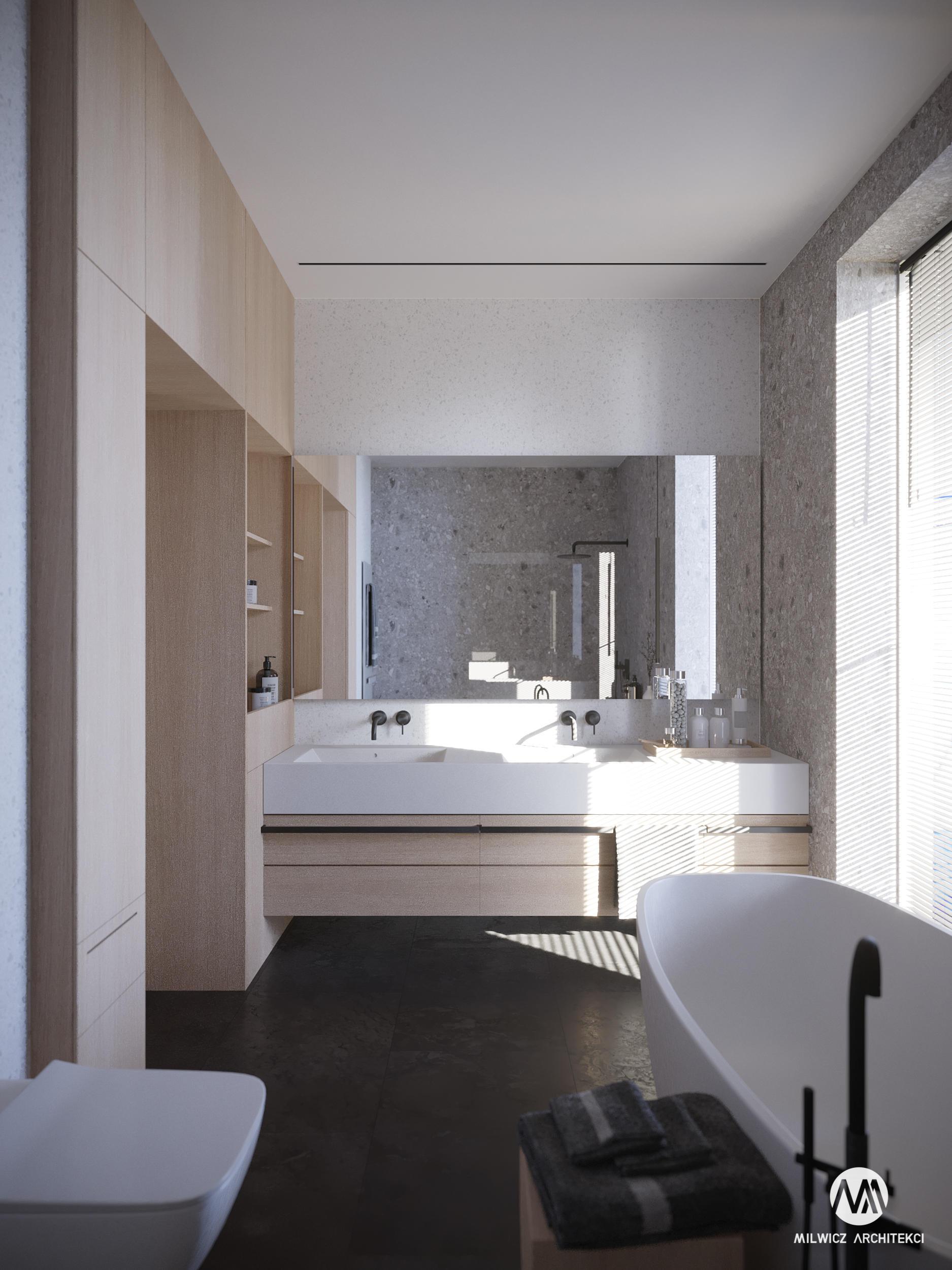 projekty indywidualne, projekty wnętrz, minimalizm, łazienka