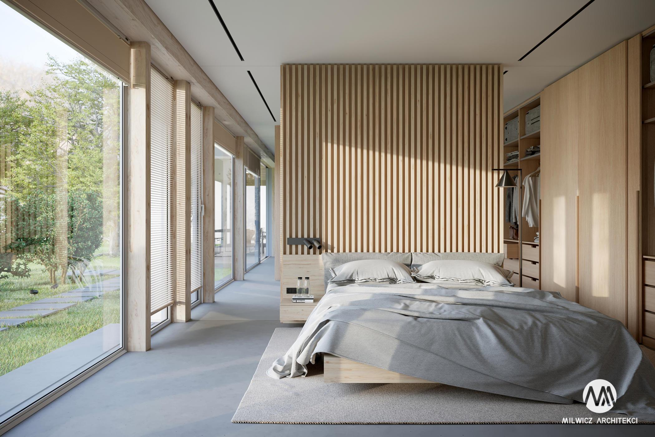 projekty indywidualne, projekty wnętrz, minimalizm, sypialnia