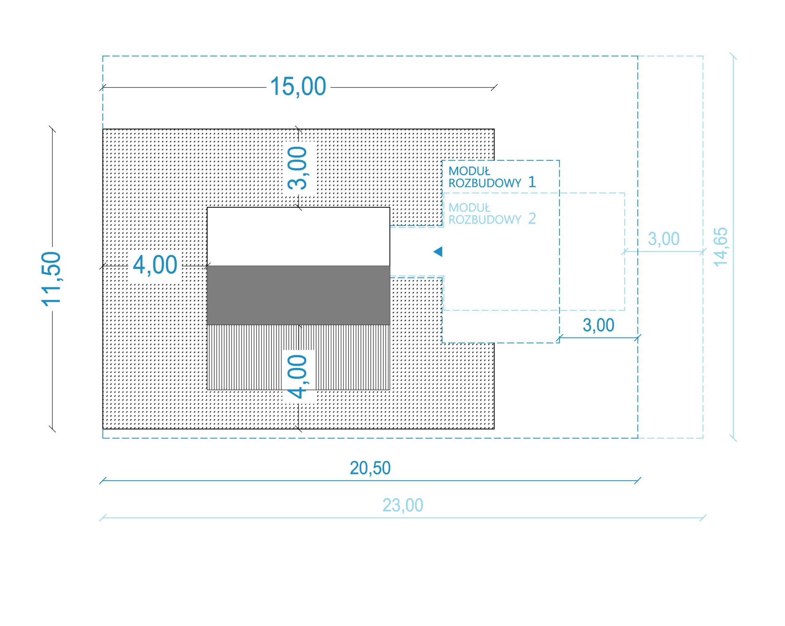 projekty do 35m2, projekt bez pozwolenia, dom na zgłoszenie, rzut, parteru rzut, dom modułowy, budownictwo modułowe