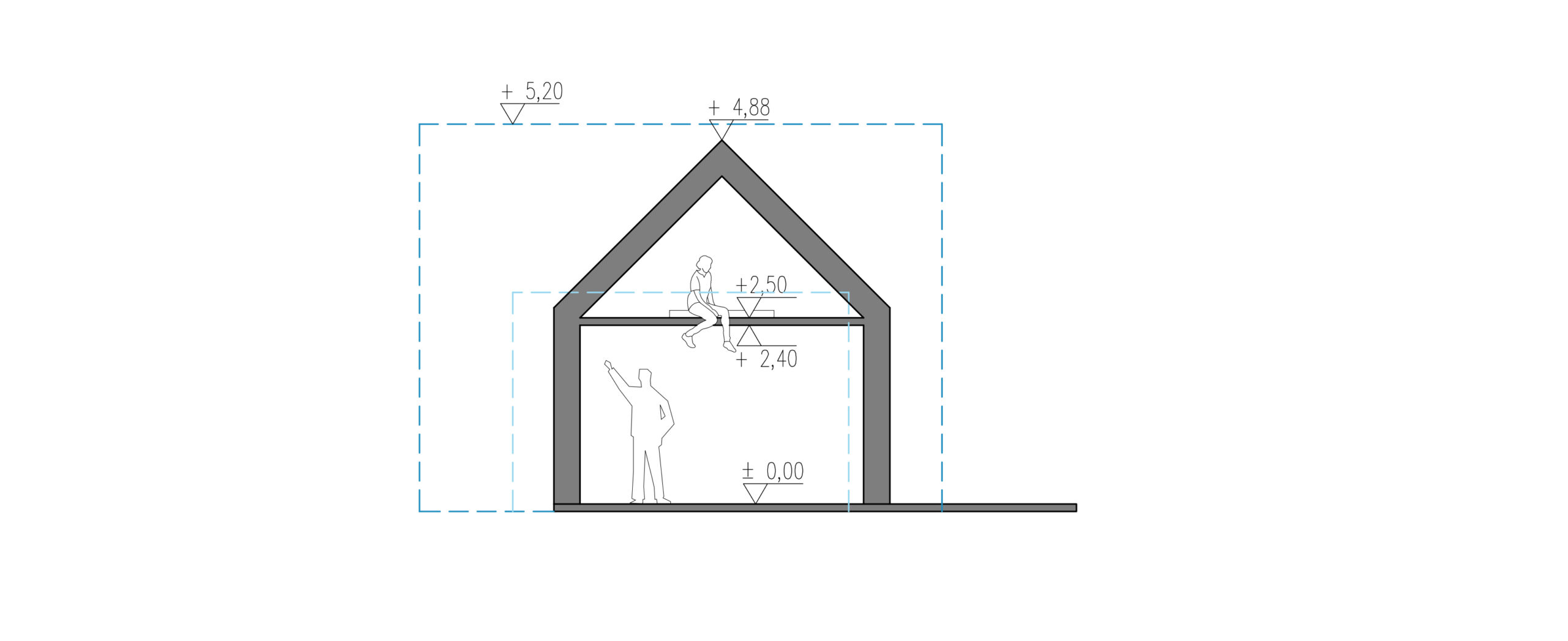 rzut, nowoczesna stodoła, stodoła do 35m2