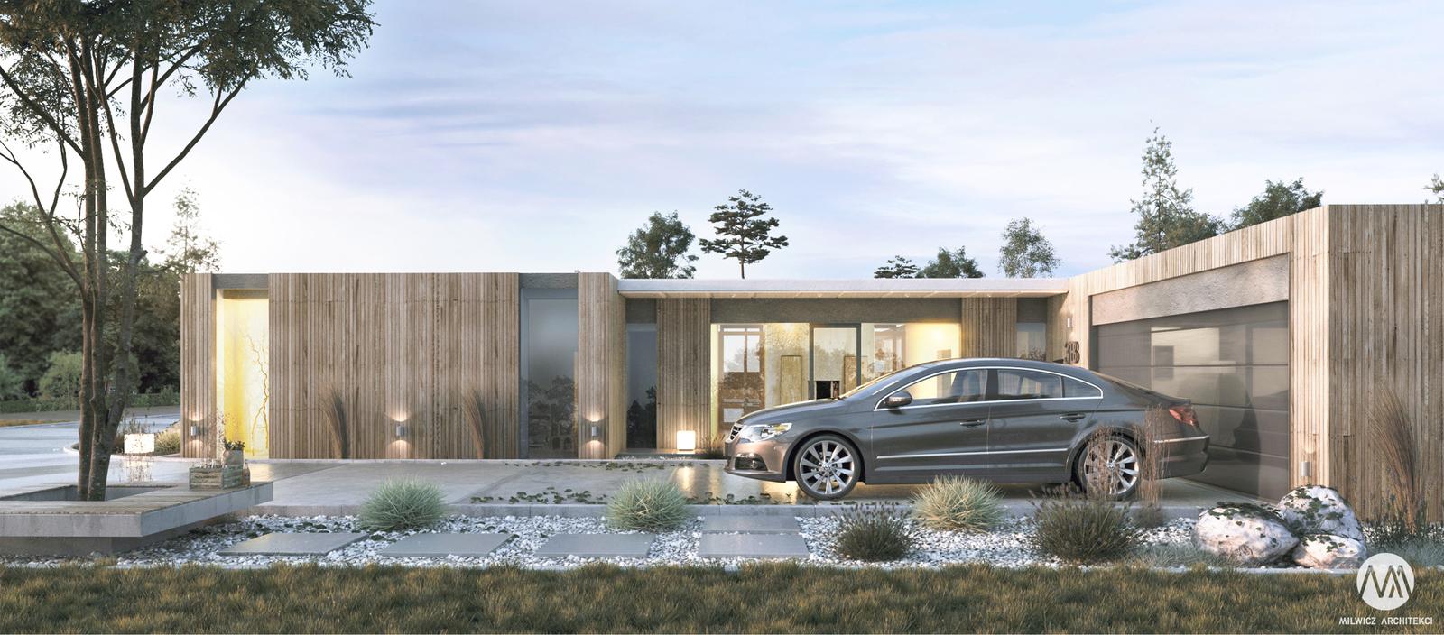 projekt Konin, projekty indywidualne, płaski dach, duże przeszklenie, modernizm, minimalizm