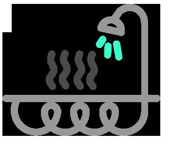 odzysk ciepła z wody prysznicowej