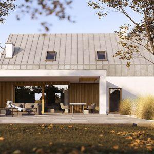 Projekt na zgłoszenie, projekt bez pozwolenia, dom do 35m2, mały dom, dom letniskowy, budynek rekreacji indywidualnej, konstrukcja szkieletowa, HBE, CLT, nowoczesna stodoła, nowoczesna architektura, energooszczędny, ekonomiczny, ekologiczny, budynek całoroczny, budynek pasywny, zeroenergetyczny, modułowy, z rozbudową, drewniany, przeszklona fasada, glamping, slowhop, dom pod miastem, projekt gotowy, dom na wąską działkę, tani dom, z garażem,ekonomiczny