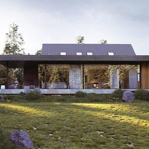 Projekt na zgłoszenie, projekt bez pozwolenia, dom do 35m2, mały dom, dom letniskowy, budynek rekreacji indywidualnej, konstrukcja szkieletowa, HBE, CLT, nowoczesna stodoła, nowoczesna architektura, energooszczędny, ekonomiczny, ekologiczny, budynek całoroczny, budynek pasywny, zeroenergetyczny, modułowy, z rozbudową, drewniany, przeszklona fasada, glamping, slowhop, dom pod miastem, projekt gotowy, dom na wąską działkę, tani dom, piękny projekt, z antresolą, wysoki salon, duże okna