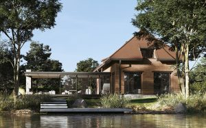 projekt indywidualny Mazury, rozbudowa, projekt indywidualny, dach płaski, taras, duże przeszklenie