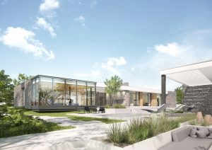 projekt indywidualny Toruń, nowoczesna architektura, płaski dach, zadaszony taras, projekty indywidualne, modernizm, duże przeszklenie