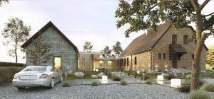 projekt indywidualny Wierzbiczany, rozbudowa, nowoczesna stodoła, projekt domu jednorodzinnego, nowoczesne projekty domów